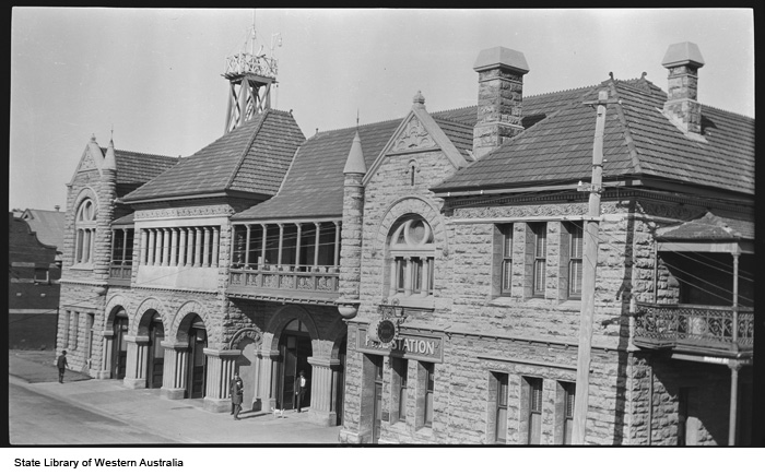 Old Perth Photos Old Perth Fire Station 1919