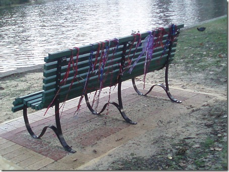 Streamers on Bench