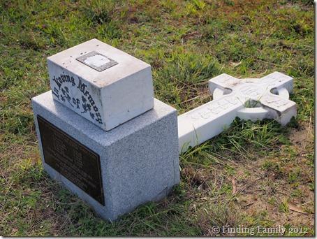 Damaged Headstone