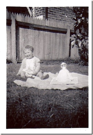 Sandra Nicholson (Sandra with her birthday cake at 1 year old)