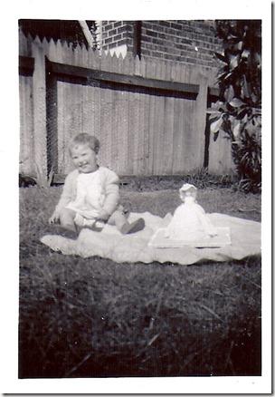 Sandra Nicholson (Sandra with her birthday cake at 1 year old)