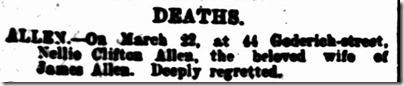 Death Notice Nellie