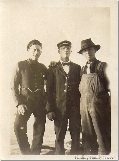 Barratt Charles (far right) with railway workers - 2