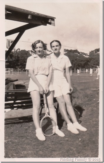 Flynn Audrey (right) with unknown friend playing tennis