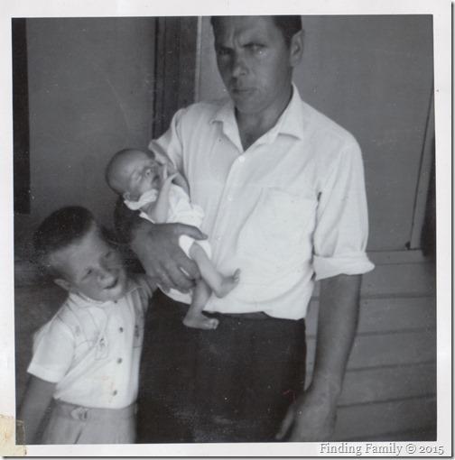 Reece Nicholson's friend with his children