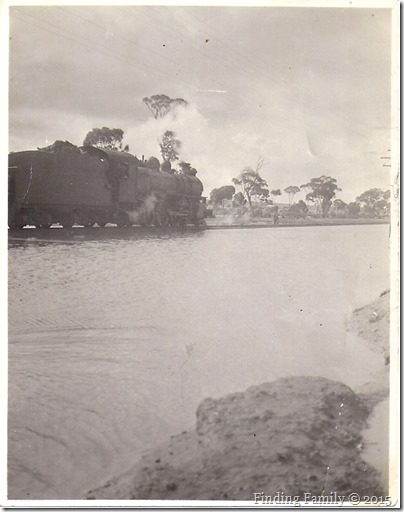 Train and floods near Merredin