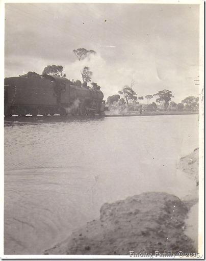 Train and floods near Merredin