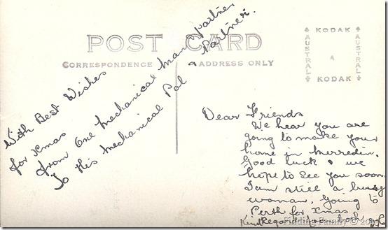 Unknown - Mechanic Pal & Partner (Postcard Back)