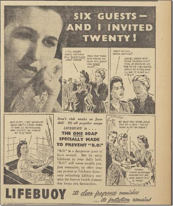Lifebuoy, Women's Weekly, 29 November 1941, Pg 15
