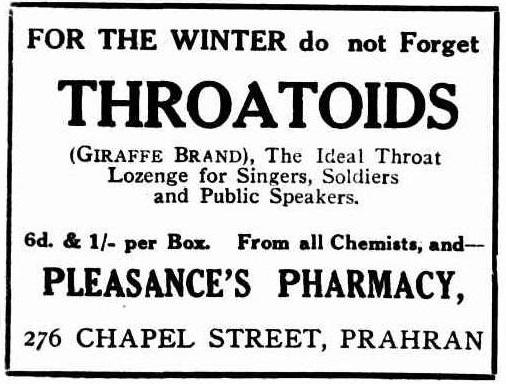 Throatoids 1916