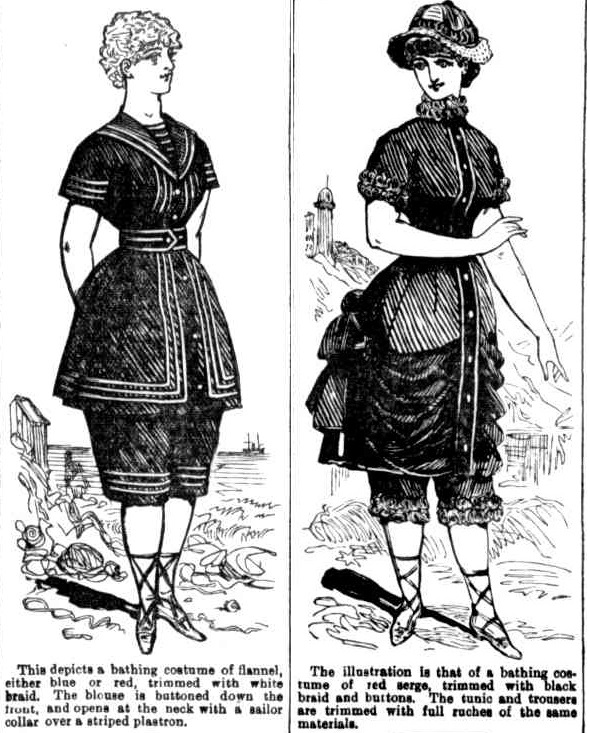 Bathing costumes in 1883.